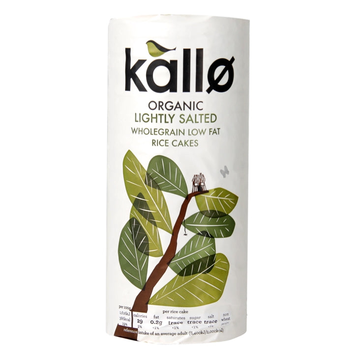Kallo ORG Rice Cakes with sea salt 130g - Shipping From Just £2.99 Or FREE When You Spend £60 Or More