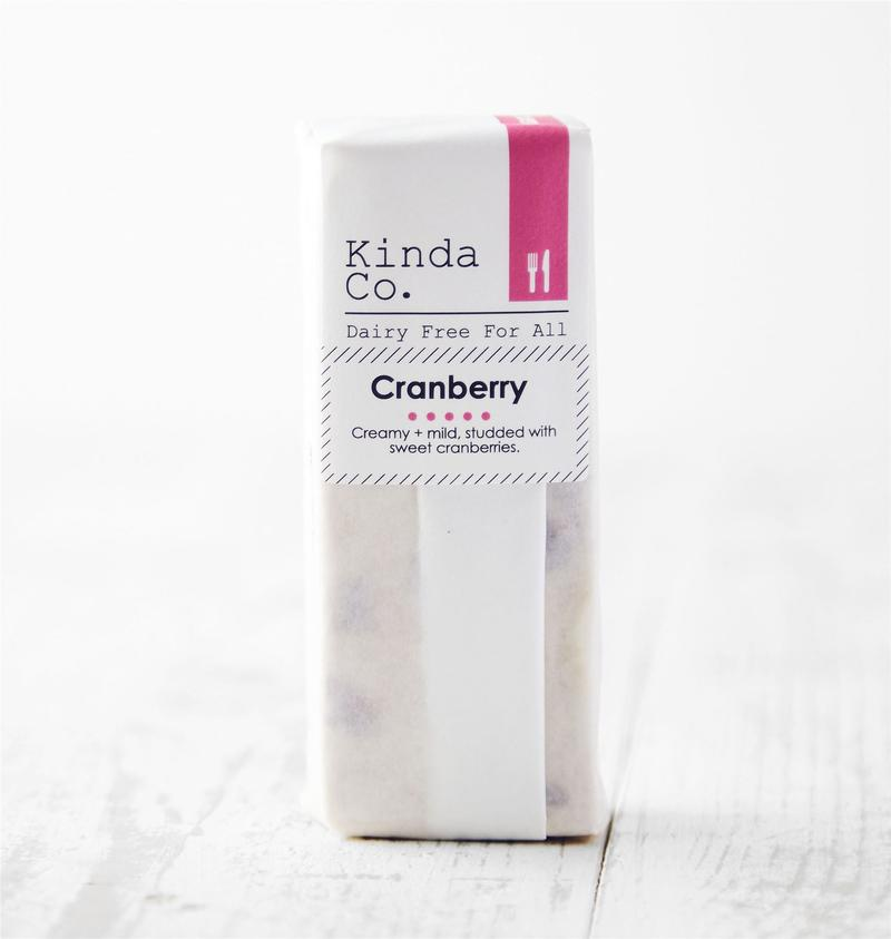 Kinda Co Cheddar Cranberry Block 120g