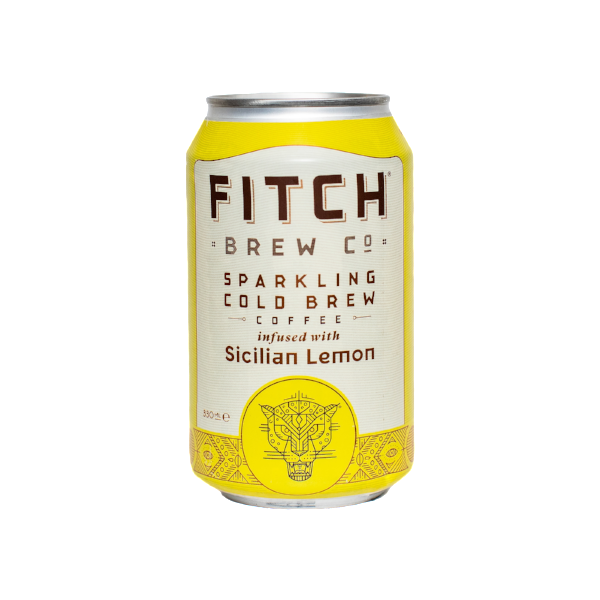 FITCH Sparkling Cold Brew Coffee Sicilian Lemon 330ml