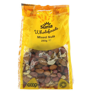 Mixed Nuts - 250g - Shipping From Just £2.99 Or FREE When You Spend £60 Or More