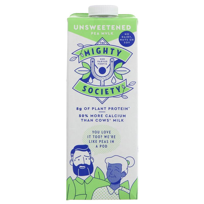 Mighty Society Unsweetened Pea Milk 1l