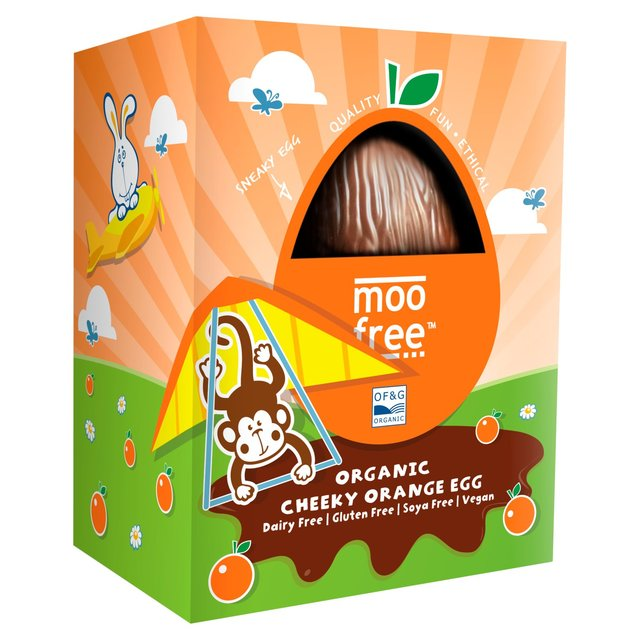 Moo Free Cheeky Orange Easter Egg 110g