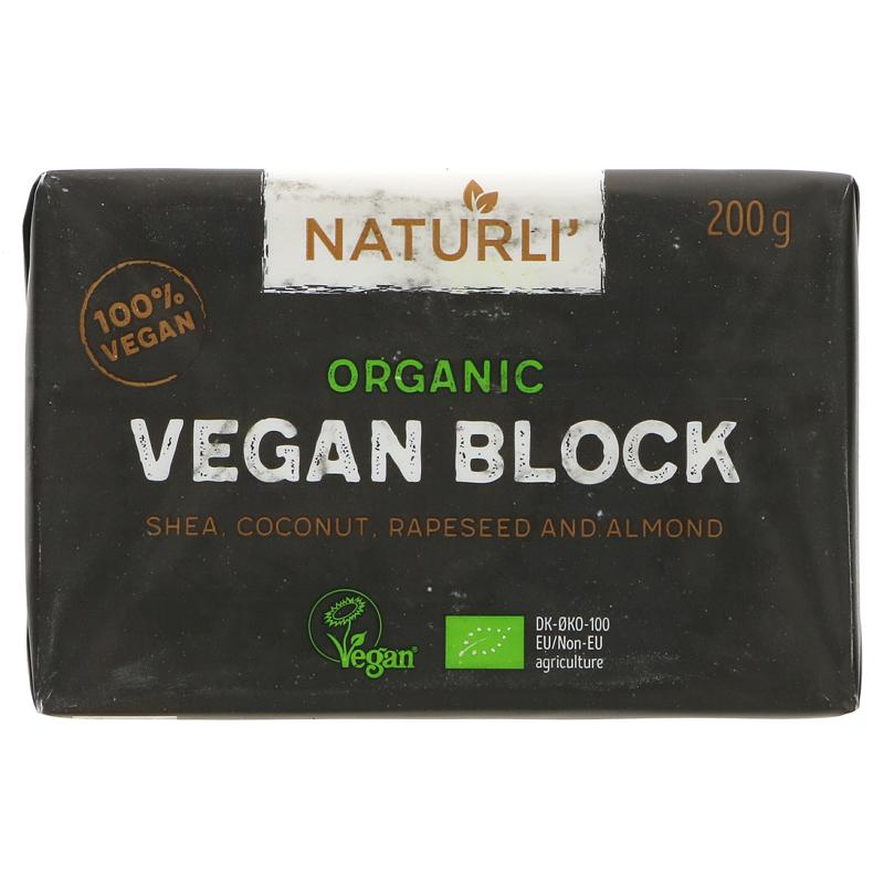 Naturli Organic Vegan 'Butter' Block 200g - Shipping From Just £2.99 Or FREE When You Spend £55 Or More