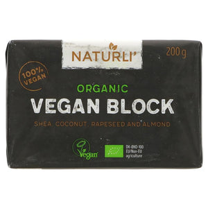 Naturli Organic Vegan 'Butter' Block 200g - Shipping From Just £2.99 Or FREE When You Spend £60 Or More