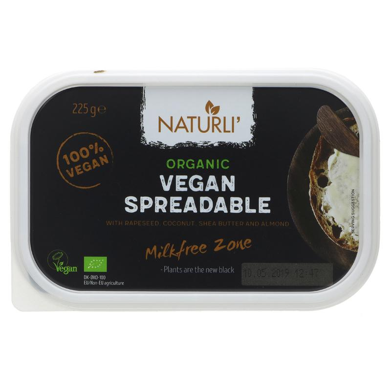 Naturli Organic Vegan Spreadable 'Butter' 225g - Shipping From Just £2.99 Or FREE When You Spend £60 Or More