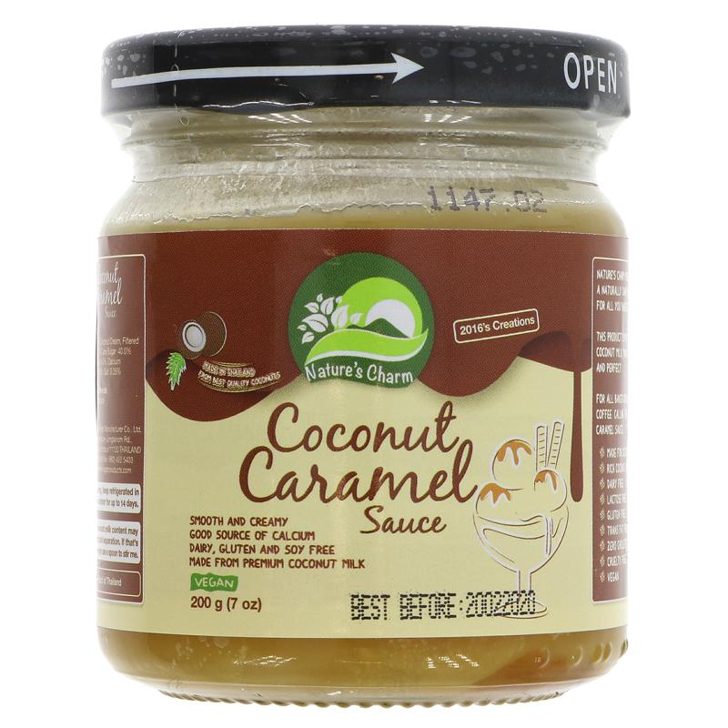 Nature's Charm Coconut Caramel Sauce - 200g - Shipping From Just £2.99 Or FREE When You Spend £60 Or More