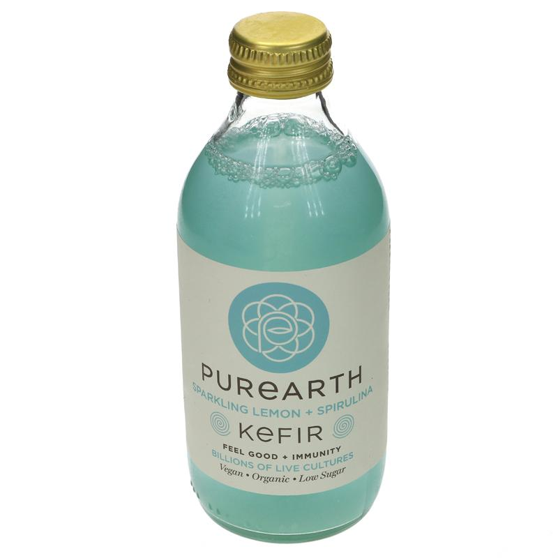 Purearth Sparkling Lemon + Spirulina Kefir - 250ml - Shipping From Just £2.99 Or FREE When You Spend £60 Or More