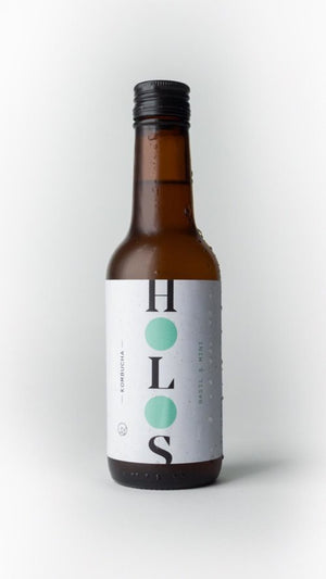 HOLOS Kombucha Basil & Mint 250ml - Shipping From Just £2.99 Or FREE When You Spend £55 Or More