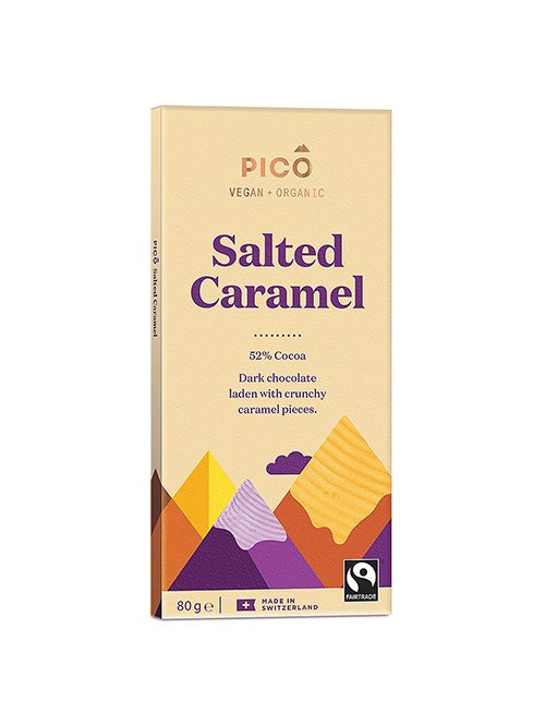 Pico Organic Sea Salted Caramel Chocolate 80g - Shipping From Just £2.99 Or FREE When You Spend £60 Or More