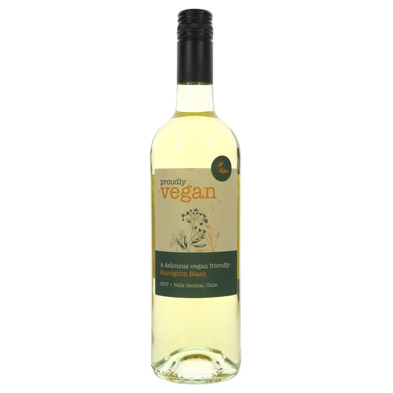 Proudly Vegan White Wine Sauvignon Blanc 75cl - Shipping From Just £2.99 Or FREE When You Spend £60 Or More