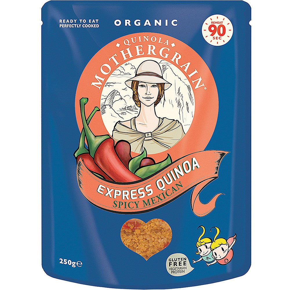 Quinola Spicy Mexican Organic Ready to Eat Quinoa - 250g - Shipping From Just £2.99 Or FREE When You Spend £60 Or More
