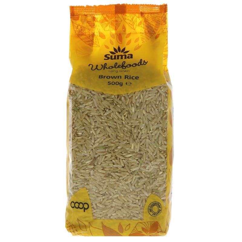 Long Grain Brown Rice 500g - Shipping From Just £2.99 Or FREE When You Spend £60 Or More