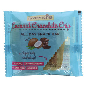 Rhythm 108 Coconut Chocolate Chip All Day Snack Bar - 40g