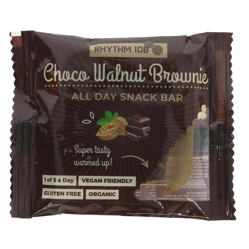Rhythm 108 Chocolate Walnut Brownie All-Day Snack Bar - 40g