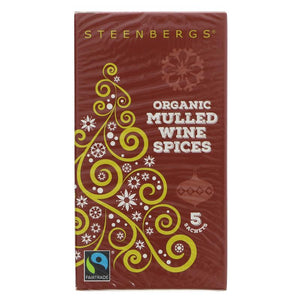 Steenbergs Mulled Wine Sachets-Fairtrade 20g - Shipping From Just £2.99 Or FREE When You Spend £55 Or More