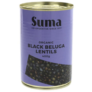 Organic Black Beluga Lentils - 400g - Shipping From Just £2.99 Or FREE When You Spend £55 Or More