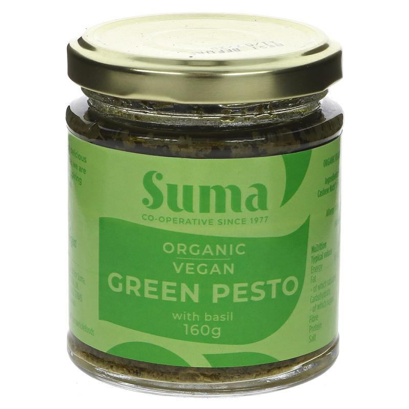Suma Organic Vegan Green Pesto 160g - Shipping From Just £2.99 Or FREE When You Spend £60 Or More