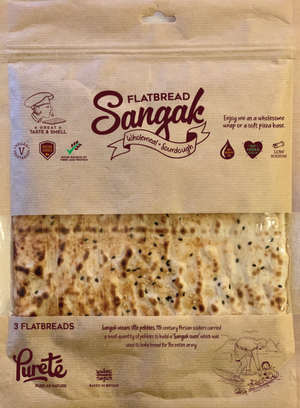 Purete Sangak Wholemeal & Sourdough Flatbread 400g - Shipping From Just £2.99 Or FREE When You Spend £60 Or More
