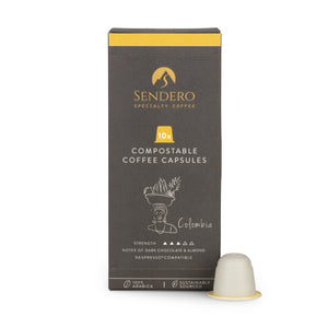 Sendero Compostable Coffee Capsules (10 capsules) - Colombia - Shipping From Just £2.99 Or FREE When You Spend £60 Or More