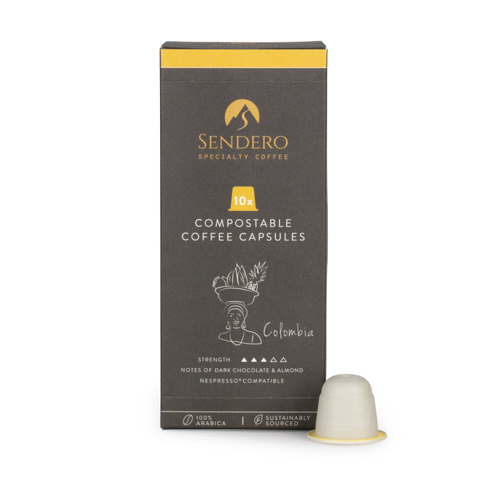 Sendero Compostable Coffee Capsules (10 capsules) - Colombia