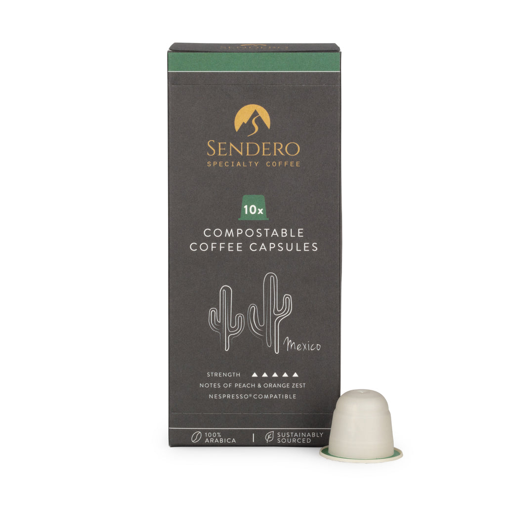 Sendero Compostable Coffee Capsules (10 capsules) - Mexico - Shipping From Just £2.99 Or FREE When You Spend £60 Or More