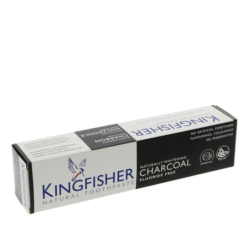 Kingfisher Charcoal Naturally Whitening 100ml - Shipping From Just £2.99 Or FREE When You Spend £60 Or More