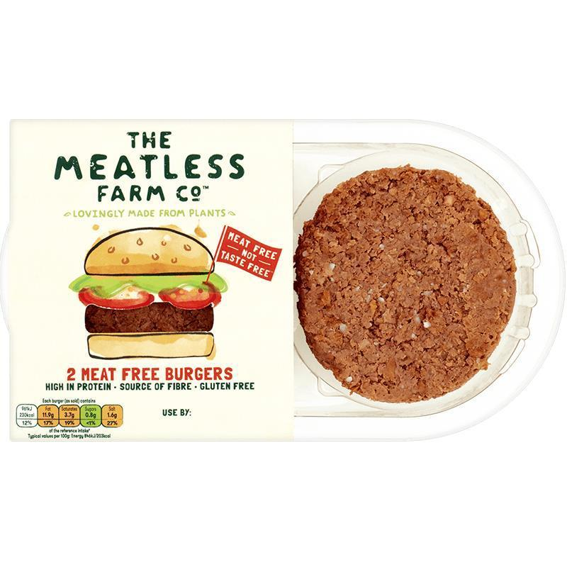 The Meatless Farm Co 2 Meat Free Burgers 227g - Shipping From Just £2.99 Or FREE When You Spend £60 Or More