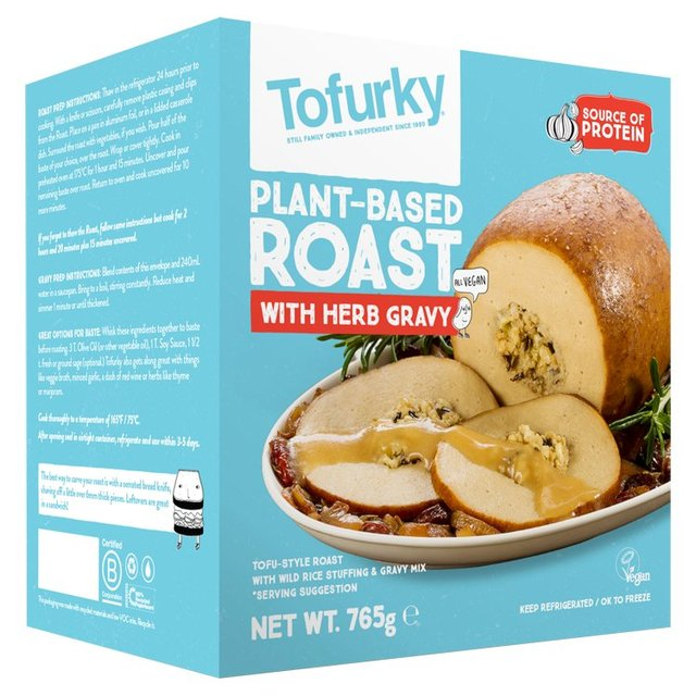 Tofurky Roast with Herb Gravy - 765g - Shipping From Just £2.99 Or FREE When You Spend £60 Or More