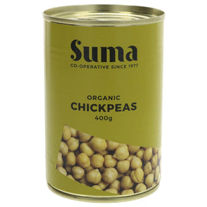 Suma Chick Peas Organic 400g - Shipping From Just £2.99 Or FREE When You Spend £60 Or More