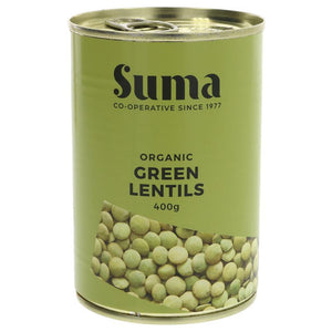Suma Organic Green Lentils 400g - Shipping From Just £2.99 Or FREE When You Spend £55 Or More
