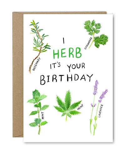 Rose & Daff - I Herb It's Your Birthday - Shipping From Just £2.99 Or FREE When You Spend £60 Or More