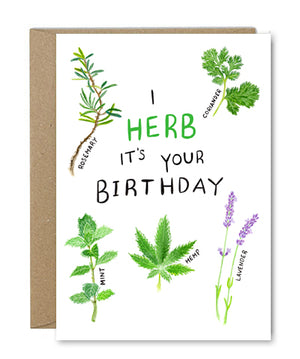 Rose & Daff - I Herb It's Your Birthday - Shipping From Just £2.99 Or FREE When You Spend £55 Or More