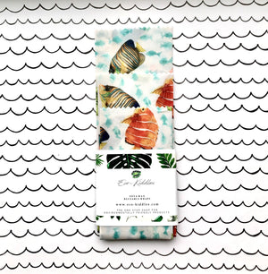 Vegan Reusable Food Wraps - Fish Print