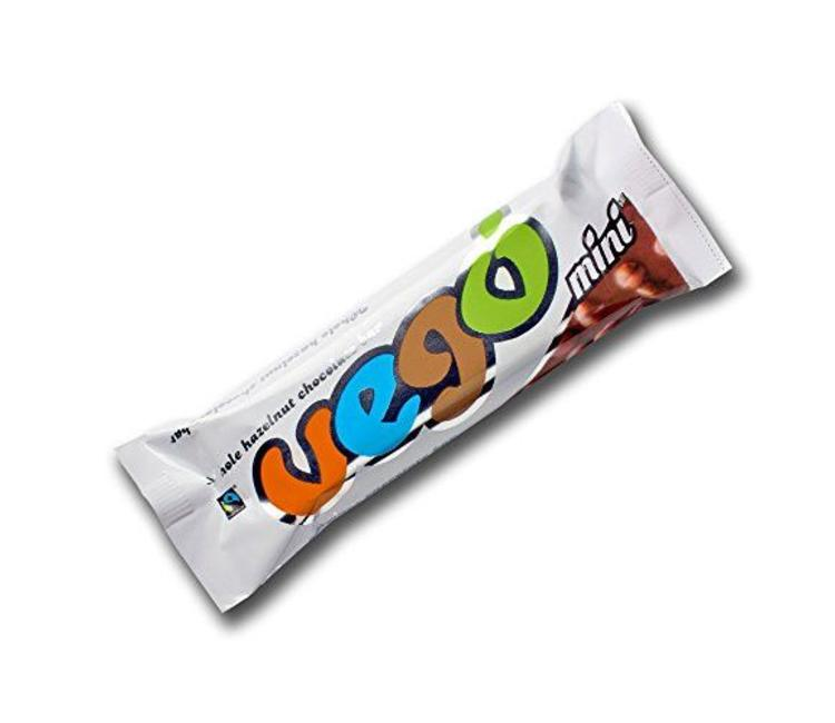 Vego Mini Hazelnut Chocolate Bar Organic Fairtrade 65g