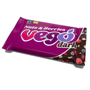 Vego Organic Dark Nuts & Berries Chocolate Bar 85g - Shipping From Just £2.99 Or FREE When You Spend £60 Or More