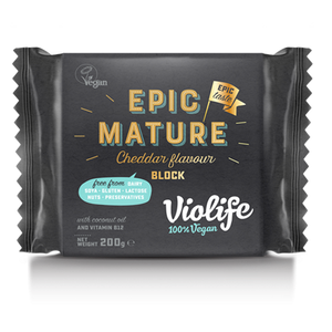 Violife Block Epic Mature Cheddar 200g - Shipping From Just £2.99 Or FREE When You Spend £60 Or More