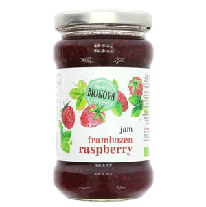 Bionova Organic Raspberry Jam - 340g - Shipping From Just £2.99 Or FREE When You Spend £55 Or More