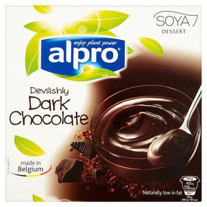 Alpro Soya Dark Chocolate Dessert 4x125g - Shipping From Just £2.99 Or FREE When You Spend £55 Or More