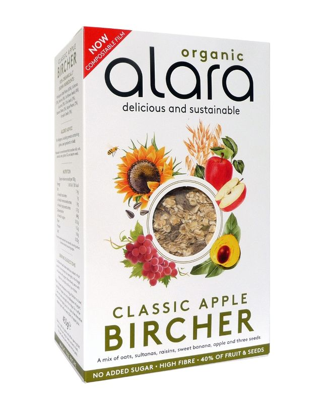 Alara Classic Apple Bircher - 450g - Shipping From Just £2.99 Or FREE When You Spend £60 Or More