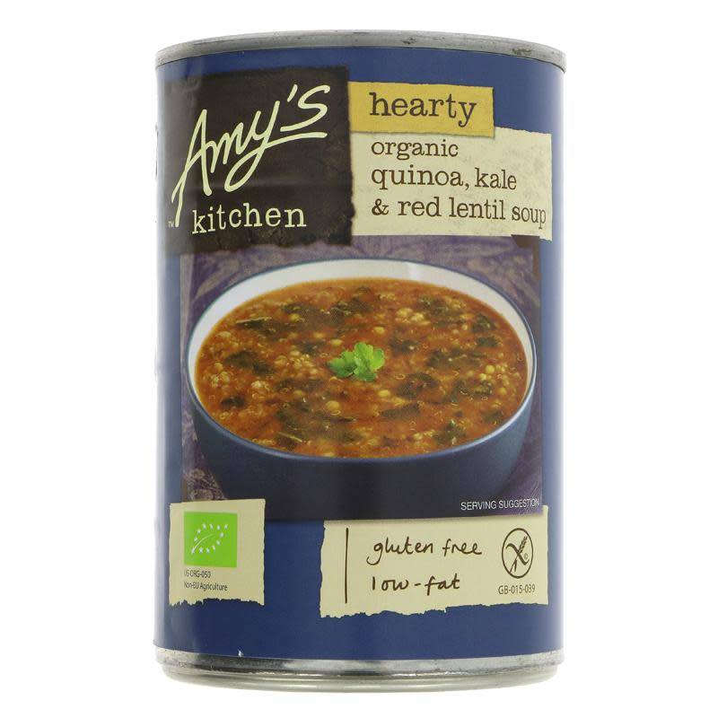 Amys Quinoa Kale Red Lentil Soup - 408g - Shipping From Just £2.99 Or FREE When You Spend £55 Or More