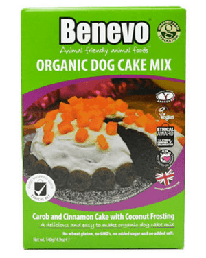 Benevo Organic Dog Cake Mix - 140g - Shipping From Just £2.99 Or FREE When You Spend £60 Or More