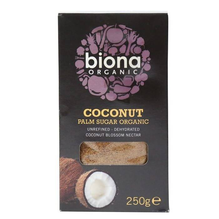 Biona Organic Coconut Palm Sugar - 250g - Shipping From Just £2.99 Or FREE When You Spend £60 Or More