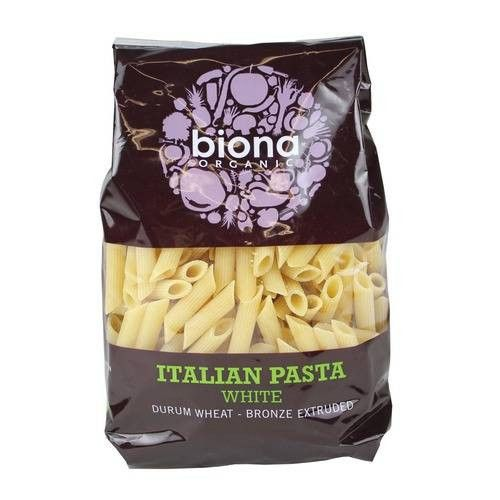 Biona Organic Durum Wheat White Penne Rigate - 500g - Shipping From Just £2.99 Or FREE When You Spend £60 Or More