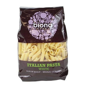 Biona Organic Durum Wheat White Penne Rigate 500g - Shipping From Just £2.99 Or FREE When You Spend £55 Or More