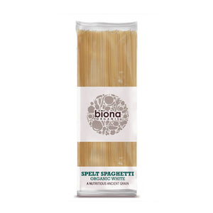 Biona Organic White Spelt Spaghetti 500g - Shipping From Just £2.99 Or FREE When You Spend £55 Or More