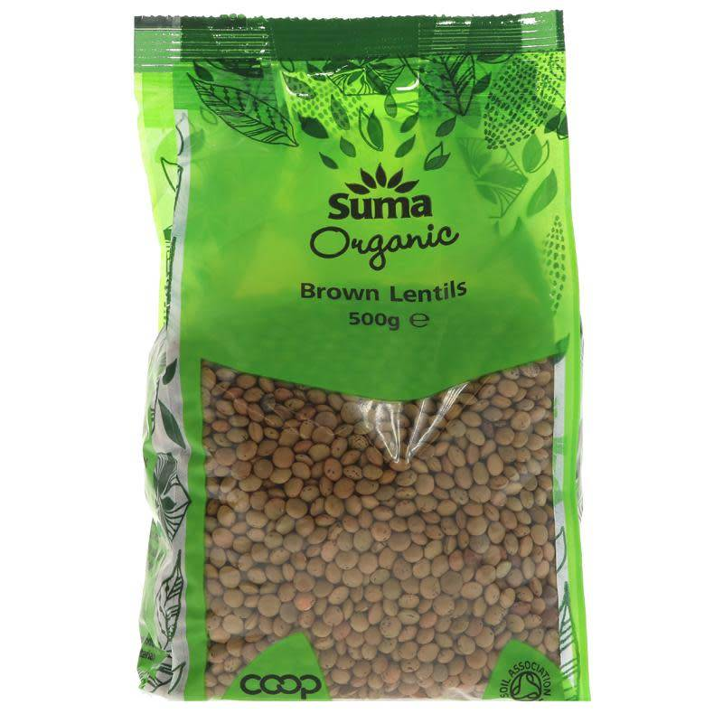 Suma Organic Brown Lentils 500g - Shipping From Just £2.99 Or FREE When You Spend £55 Or More