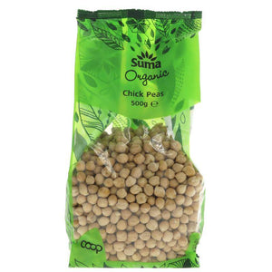 Suma Organic Chick Peas 500g - Shipping From Just £2.99 Or FREE When You Spend £55 Or More