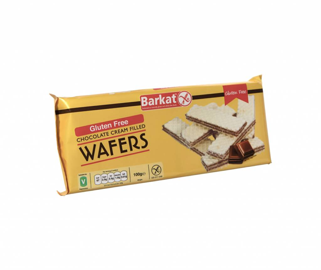 Barkat Chocolate Wafers - 100g - Shipping From Just £2.99 Or FREE When You Spend £55 Or More