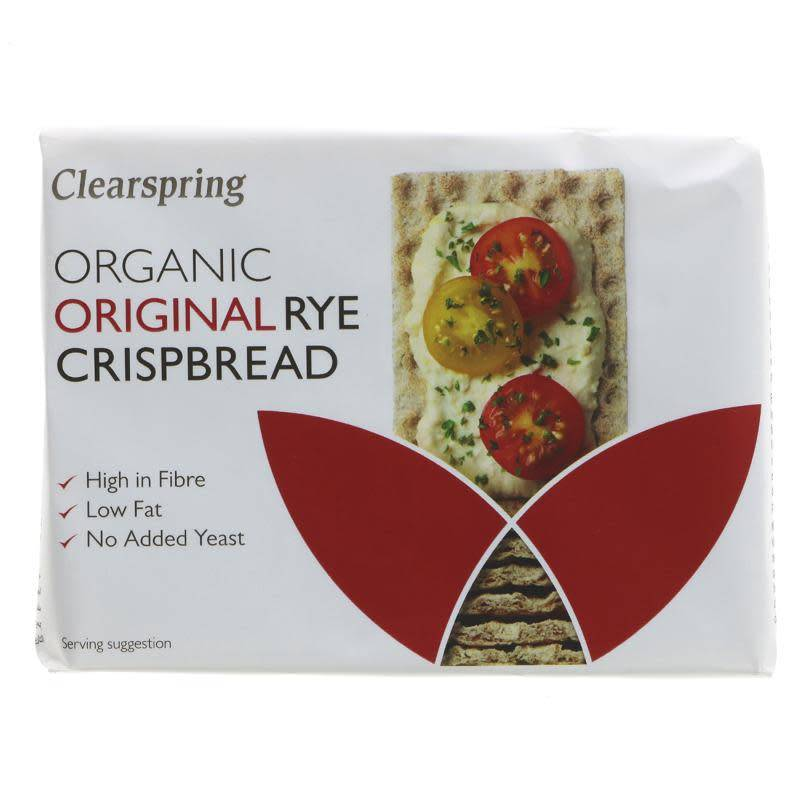 Clearspring Rye Crispbread - Original - 200g - Shipping From Just £2.99 Or FREE When You Spend £55 Or More