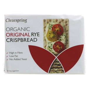 Clearspring Rye Crispbread - Original - 200g - Shipping From Just £2.99 Or FREE When You Spend £60 Or More